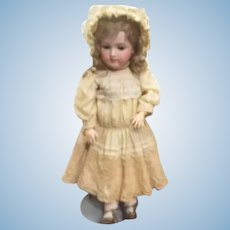 Antique Simon & Halbig Doll on Stand with Original Clothing