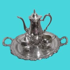 Oneida Silverplate Coffee Set with Tray