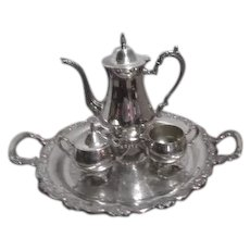 Oneida Silverplate Coffee Set with Tray