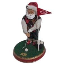 Golfing Santa Music Box