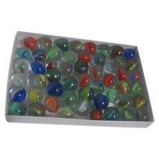 Bag of 50 Cat-eye Glass Marbles