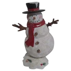 Snowman Music Box Moving Body and Arms