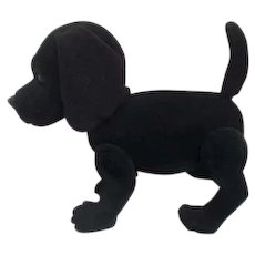 Toy Dog Black Fuzzy Jointed legs