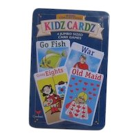 Kidz Cardz 4 Jumbo Card Games in Tin