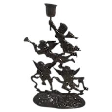 Metal Angels Candle Holder