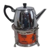 Bredemeyer Hilversum Holland Teapot and Warmer Stand