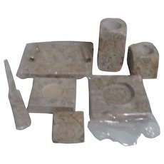 7 Piece Marble Desk Set