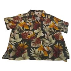 Basic Editions 100% Rayon Men's Hawaiian Style Shirt