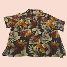 Basic Editions 100% Rayon Men's Hawaiian Style Shirt
