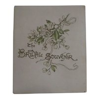 The Bridal Souvenir Book with Mementos from 1903
