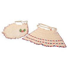 2 Hand Crocheted Aprons