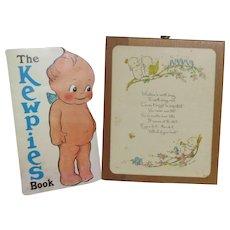 Kewpie Book and Wall Hanging