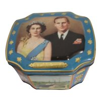 Souvenir Lidded Tin from Opening of St. Lawrence Seaway by H.H. Queen Elizabeth  1959