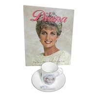 1981 Cup and Saucer Celebration of Marriage of Princess Diana & Prince Charles with Book
