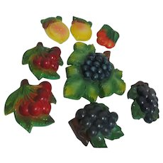 Set of 8 Fruit Shaped Chalk Kitchen Wall Hangings