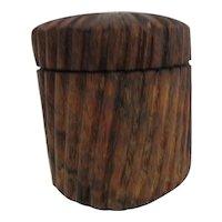 Round Wooden Box Twist On Lid
