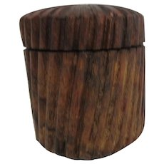 Round Wooden Box Twist On Lid