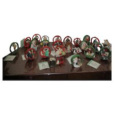 Normal Rockwell Christmas Ornaments Boxed Set of 24