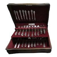 "100 Piece Rogers Bros International ""Remembrance"" Pattern Silverplate Dinnerware in Original Wood Box"