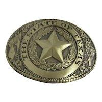State of Texas Brass Belt Buckle