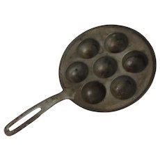King Frederick Cast Iron Danish Ebelskivers  Pancake Pan