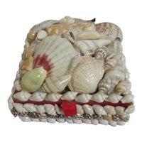 Seashell Covered Lidded Box