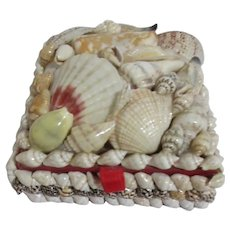 Seashell Covered Lidded Box