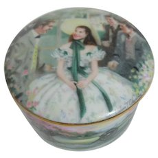"""Gone With the Wind"" China Round Music Box"