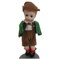 Alexanderkins Tyrolean Boy Doll on Metal Stand