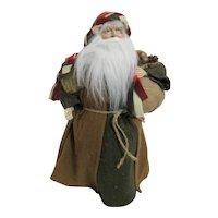 Rustic Santa Christmas Tree Topper