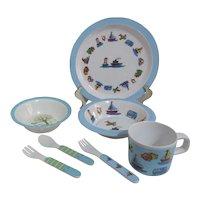 Two Sets of Children's Melamine Ware Dinnerware