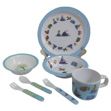 Two Sets of Children's Melamine Ware Dinnerware