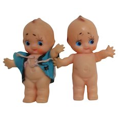 Set of 2 Small Plastic Kewpie Dolls