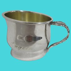 """Oneida Silver Plated Child's Cup Engraved """"Angela"""""""