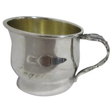 "Oneida Silver Plated Child's Cup Engraved ""Angela"""