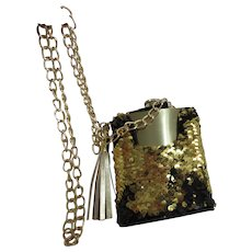 Stainless Steel Flask with Sequined Carry Bag