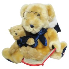 Papa Bear Reading Christmas Story to Baby Bear