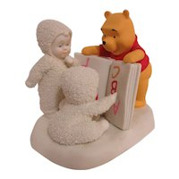 Department 56 Snowbabies Reading is Fun with Pooh