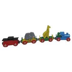 Brio Wood Circus Toy Train with Giraffe and Elephant Original Box