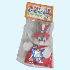 Marriott's Great america Finger Puppet Bugs Bunny as Uncle Sam Original Bag