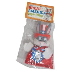 Marriott's Great america Finger Puppet Bugs Bunny as Uncle Sam Original Bag