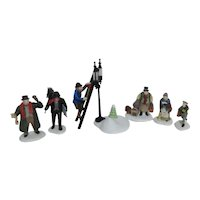 Dept 56 Christmas Heritage Village Collection Accessories: 6 people