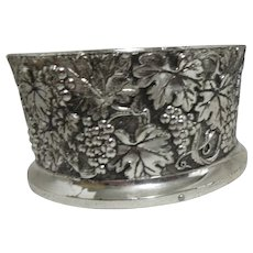 Silver Plated Wine Bottle Coaster Tarnish Resistant