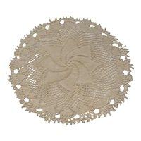 Round Crocheted Doily Pinwheel Pattern