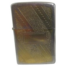 Zippo Lighter with Gold Wash