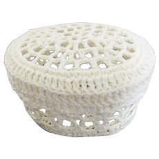 Small Oval Crocheted Lidded Box