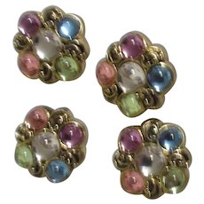 Set of 4 Multi-Colored Button Covers