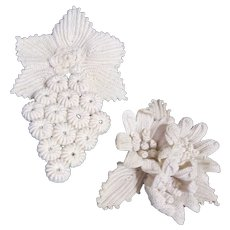 2 Pieces of Crocheted Decorative Art