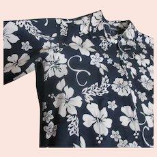 Blue and White Hawaiian Shirt by Cherokee