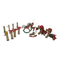 Set of 11 Small Christmas Tree Decorations Horses and Reindeer